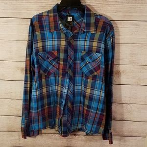 Op Long Sleeve Button Up Large